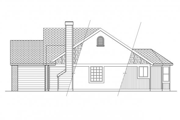 Ranch House Plan - Laramie 30-010 - Right Elevation