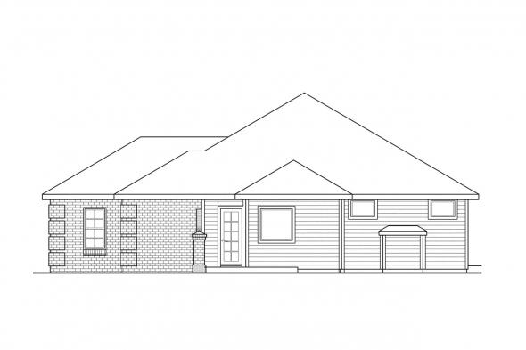 Ranch House Plan - Lewiston 30-053 - Right Elevation