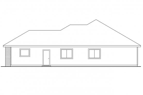 Ranch House Plan - Lorella 30-154 - Right Elevation
