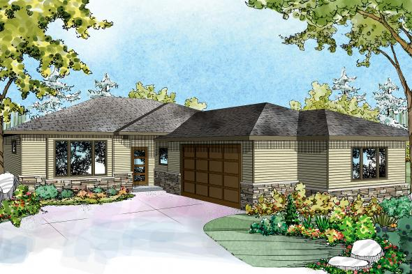 Ranch House Plan - Lostine 30-942 - Front Elevation