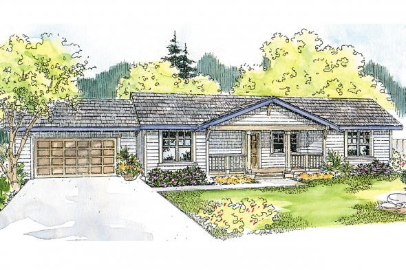 Ranch House Plan - Mackay 30-459 - Front Elevation