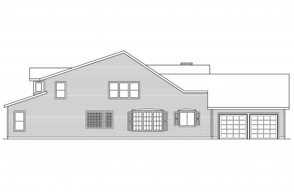 Ranch House Plan - Marion 30-174 - Left Elevation