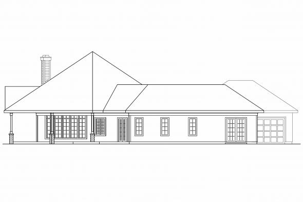 Ranch House Plan - Myersdale 10-453 - Left Elevation