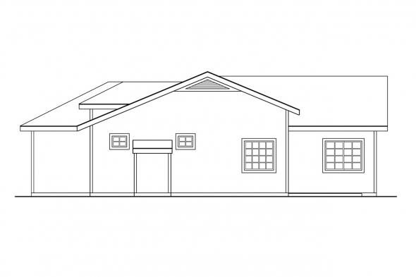 Ranch House Plan - Norden 10-216 - Right Elevation