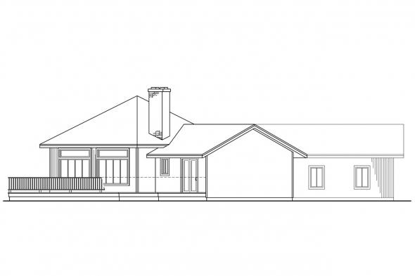Ranch House Plan - Pendleton 10-140 - Left Elevation