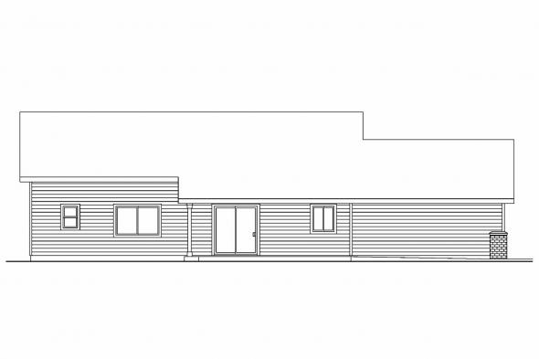 Ranch House Plan - Peterson 30-625 - Rear Elevation