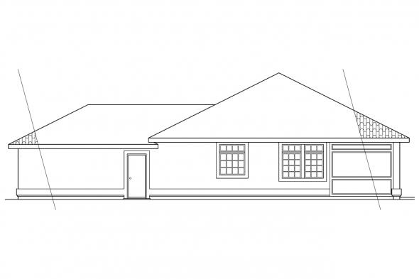 Ranch House Plan - Richmond 11-048 - Right Elevation