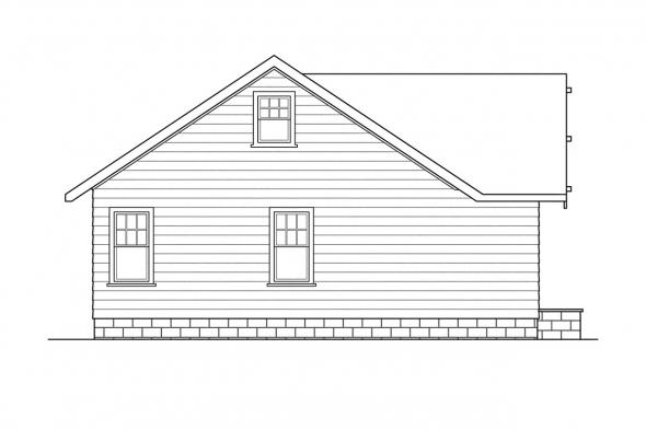 Ranch House Plan - Sandberg 30-083 - Left Elevation