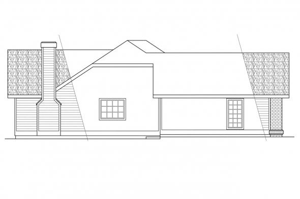 Ranch House Plan - Sarasota 10-058 - Left Elevation