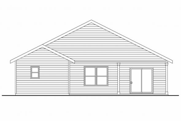 Ranch House Plan - Sedgewood 30-631 - Rear Elevation