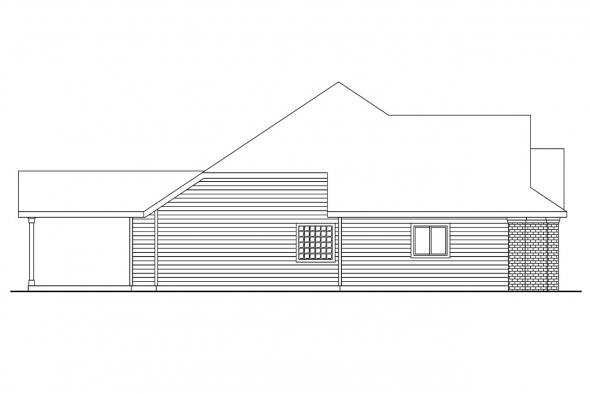 Ranch House Plan - Spencer 30-537 - Left Elevation