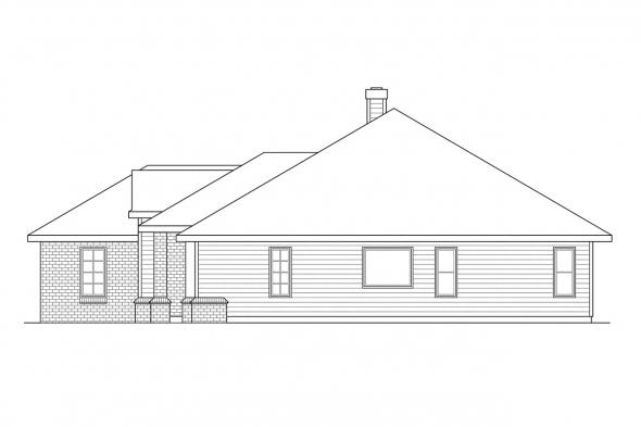 Ranch House Plan - Syracuse 30-063 - Right Elevation