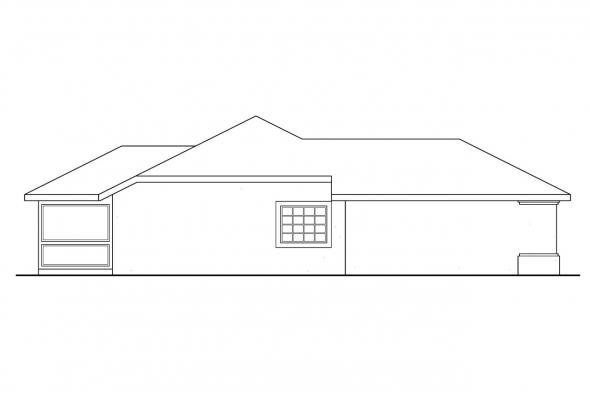Ranch House Plan - Topaz 11-087 - Left Elevation