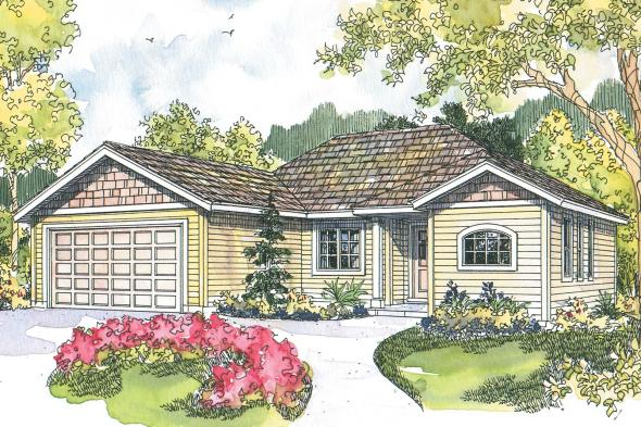 Ranch House Plan - Tyson 30-495 - Front Elevation