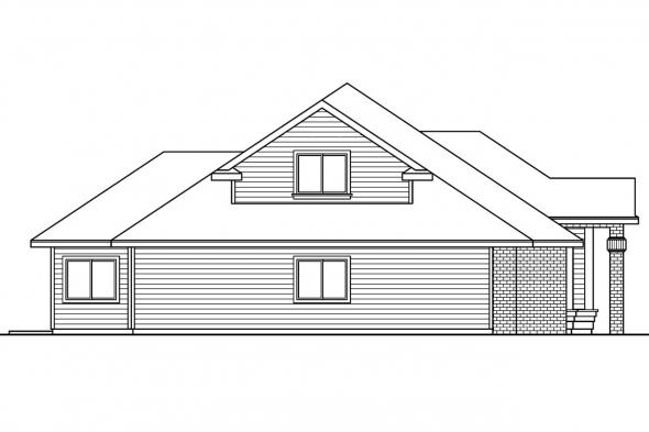 Ranch House plan - Vicksburg 30-567 - Left Elevation