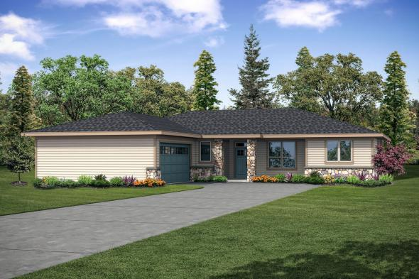 Ranch House Plan - Wasco 31-106 - Front Elevation