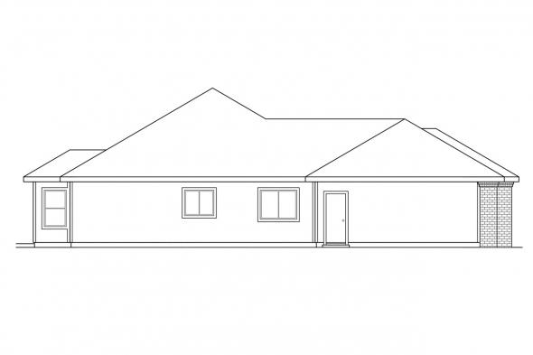 Ranch House Plan - Waterford 30-078 - Left Elevation