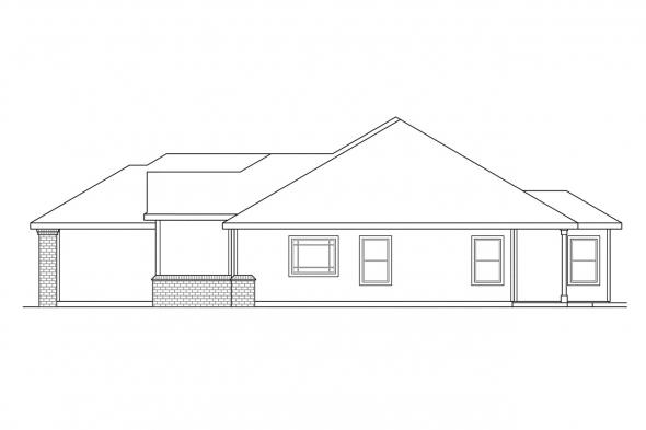 Ranch House Plan - Waterford 30-078 - Right Elevation