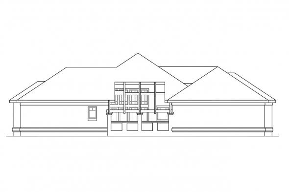 Ranch House Plan - Westbrook 30-065 - Left Elevation