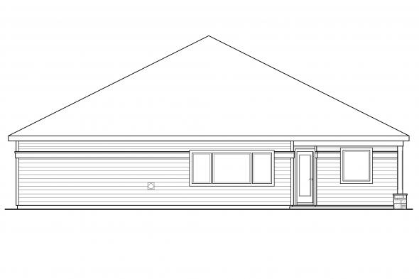 Ranch House Plan - Westfall 30-944 - Rear Elevation