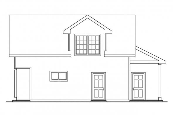 RV Garage Plan 20-022 - Right Elevation