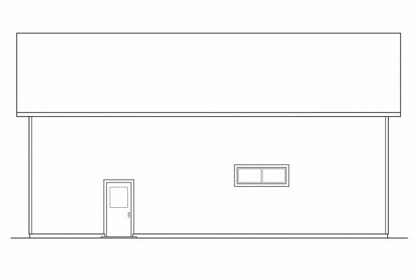 RV Garage Plan 20-027 - Right Elevation