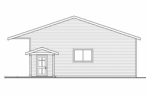RV Garage Plan 20-038 - Right Elevation