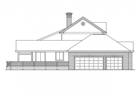 Saltbox House Plan - Cobleskill 10-356 - Left Elevation