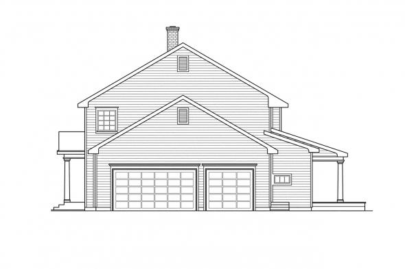 Saltbox House Plan - Kearney 30-062 - Right Elevation