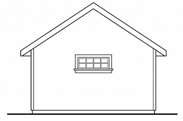 Shed Designs 20-031 - Rear Elevation