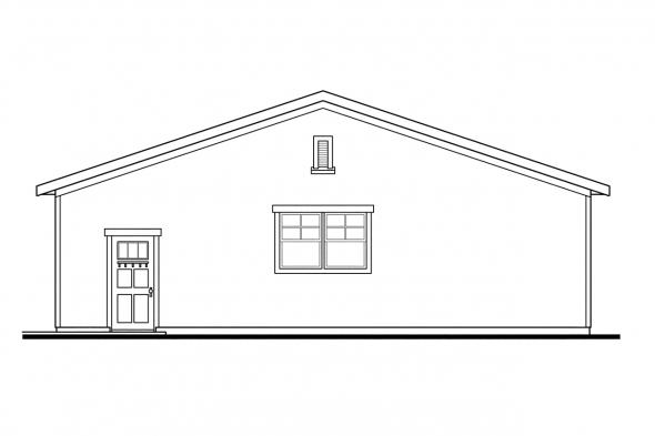 Six Car Garage Plan 20-089 - Right Elevation