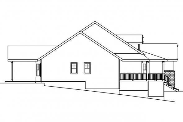 Sloping Lot House Plan - Cumberland 30-606 - Left Elevation