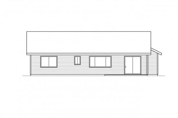 Small House Plan - Burnett 30-061 - Rear Elevation