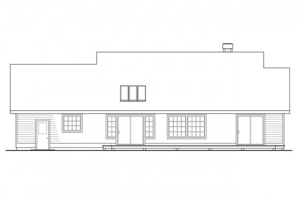 Small House Plan - Cambridge 10-045 - Rear Elevation