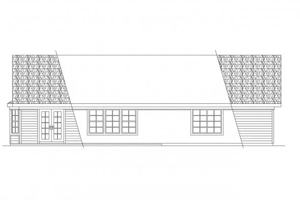 Small House Plan - Dakota 10-076 - Rear Elevation