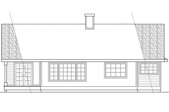 Small House Plan - Danforth 10-004 - Rear Elevation
