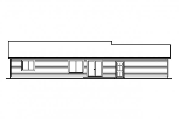 Small House Plan - Kettering 30-441 - Rear Elevation