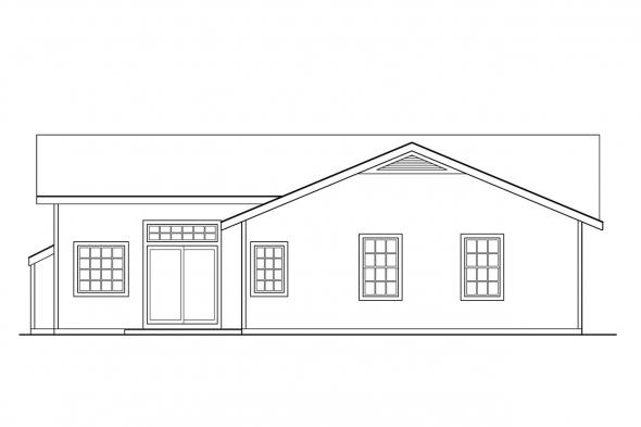 Small House Plan - Norden 10-216 - Rear Elevation