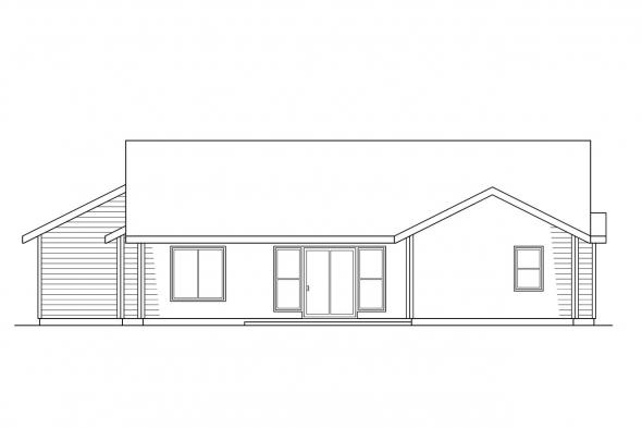 Small House Plan - Renton 10-177 - Rear Elevation