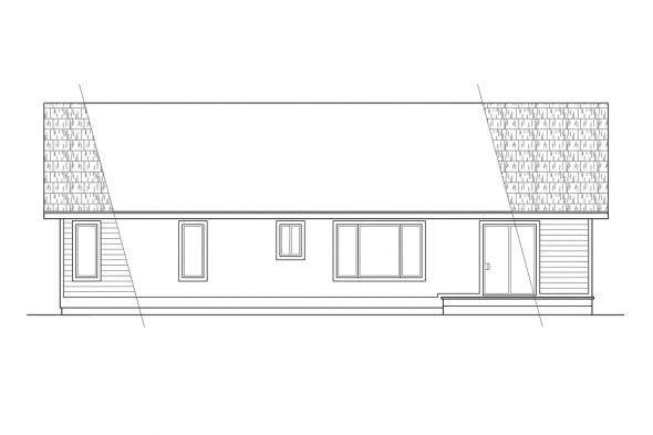 Small House Plan - Rexburg 30-068 - Rear Elevation