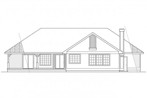Small House Plan - Sarasota 10-058 - Rear Elevation