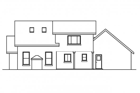 Small House Plan - Siena 30-186 - Rear Elevation