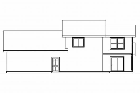 Small House Plan - Stapleton 30-478 - Rear Elevation
