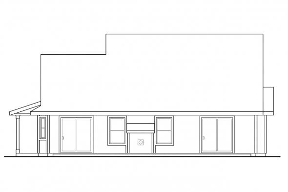 Small House Plan - Susanville 30-114 - Rear Elevation