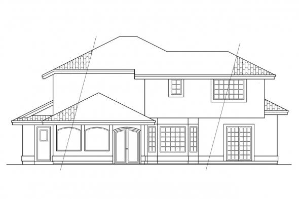 Small House Plan - Villa Real 11-067 - Rear Elevation