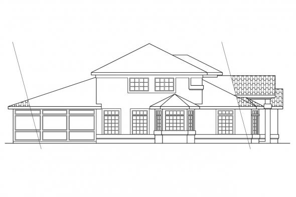 Southwest House Plan - Amherst 11-030 - Left Elevation