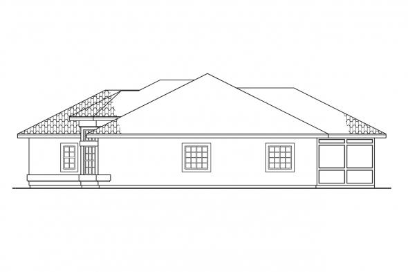 Southwest House Plan - Bryant 11-024 - Right Elevation