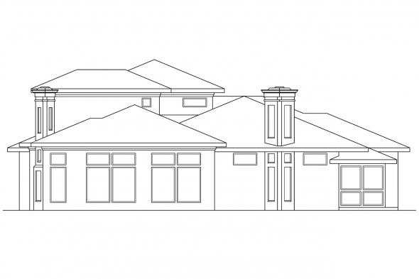 Southwest House Plan - Deveroux 10-354 - Right Elevation