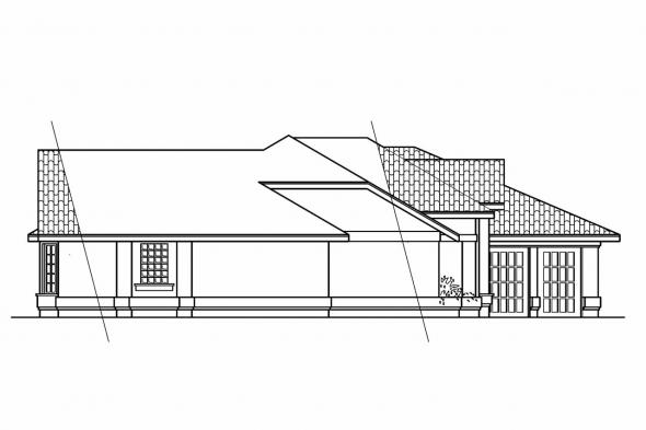 Southwest House Plan - Magnolia 11-073 - Left Elevation