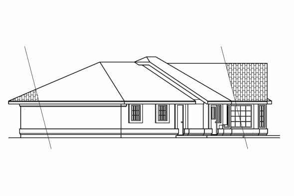 Southwest House Plan - Magnolia 11-073 - Right Elevation